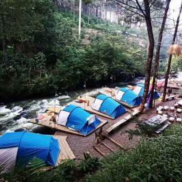 Pineus Tilu Bandung, Glamping Tepi Sungai Yang Eksotik